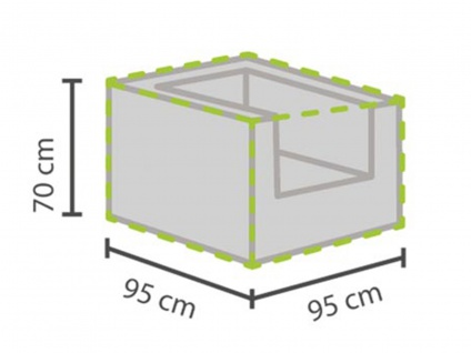 Gartenmöbel Schutzhülle Abdeckung für Hocker, 95x95cm, Folie witterungsbeständig