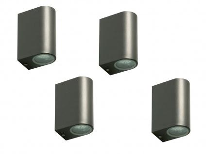 4er Set Ranex LED-Außenwandleuchte Bastia Alu anthr., up/down-light
