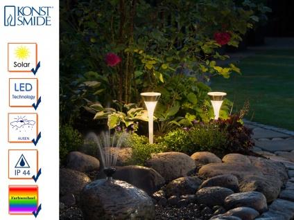 Solarleuchte im 2er Set LED Farbwechsler Erdspieß Gartenleuchte Wegeleuchte