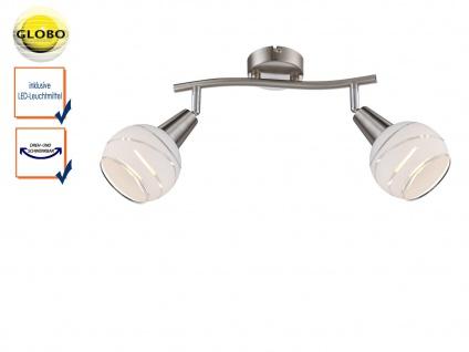 LED Deckenleuchte 2flammig Lampenschirme Glas, Deckenlampe Strahler Wohnzimmer