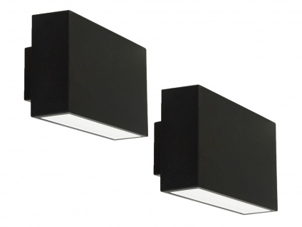 2er Set LED Außenwandleuchte EBONY, IP44, up&down light RANEX