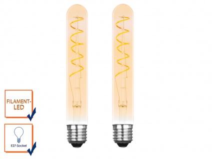 2er Set FILAMENT LED Leuchtmittel Tube mit 3 Watt, 150 Lumen, 2000K, E27-Sockel