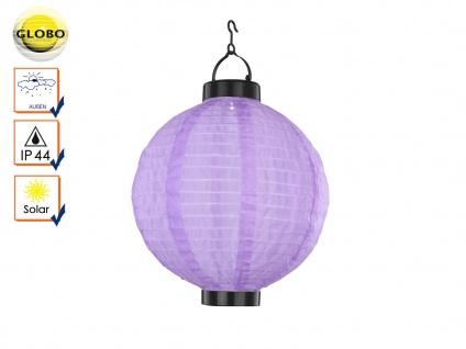LED Solarleuchte Lampion lila violett Ø25, 5cm, Gartenlampe Terrassenbeleuchtung