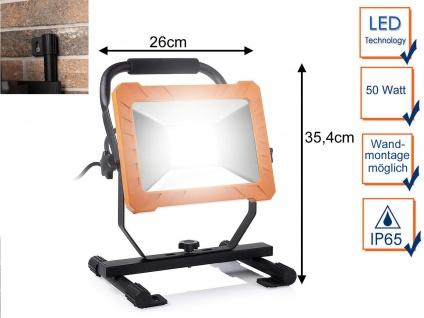 50 Watt LED Baustrahler - Arbeitslampe & Baustellenlampe auch für Wandmontage
