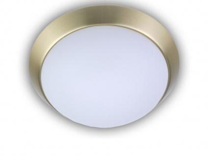 Treppenhauslampe Ø25cm Flurleuchte Garagenlampe Kellerleuchte Opalglas / Messing