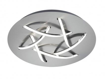 Ausgefallene LED Schlafzimmerleuchte Ø 45cm Nickel matt/weiß mit Switch Dimmer