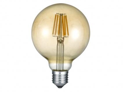 Nicht dimmbares LED Leuchtmittel E27 Fassung mit 6W warmweiß, rund Glas farbig