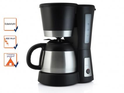 Kaffeemaschine mit Thermoskanne 1Liter, 800 Watt, Filterkaffeemaschine Edelstahl