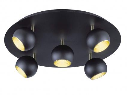 LED Spotleuchte Ø 50cm, 5 dreh+ schwenkbare Spots sorgen für optimales Licht