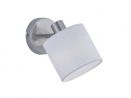 LED Wandspot 1 flammig mit Stoff Lampenschirm in weiß, schwenkbarer Wandstrahler - Vorschau 2
