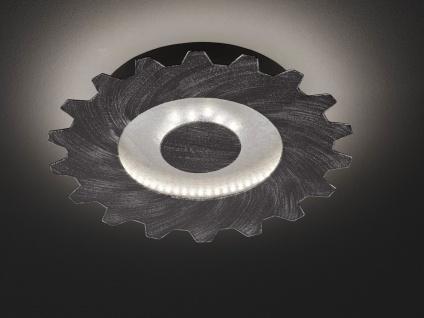 LED Deckenlampe Industrie Look Silber & Gold Ø30cm Vintage Lampe fürs Wohnzimmer