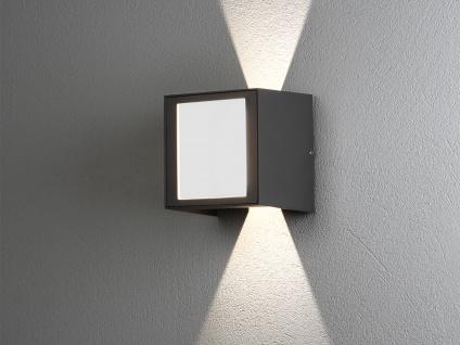 ALU LED Wandlampe in anthrazit für außen Lichtaustritt 0°-90° verstellbar IP54 - Vorschau 5