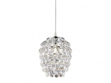 1 flammige Designer Pendelleuchte Lampenschirm Ø20cm mit Acryl Kristallbehang - Vorschau 2