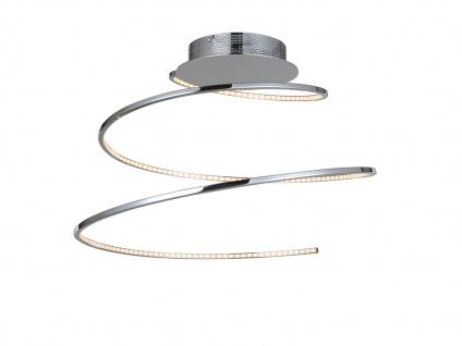 LED DESIGN Deckenleuchte Spirale in Chrom Silber - Deckenlampe fürs Wohnzimmer
