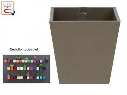 Kunststofftopf mit Magnet Ø 9 cm Taube, Wandaufbewahrung Wanddeko, KalaMitica