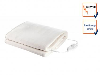 Elektrische Fleece Unterdecke 150x80cm 1 Person, weiche Heizdecke, Wärmetherapie