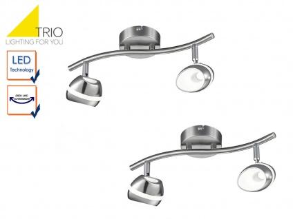 2er Set LED Deckenstrahler 2flammig Spots schwenkbar, Retro Deckenlampe Strahler - Vorschau 1