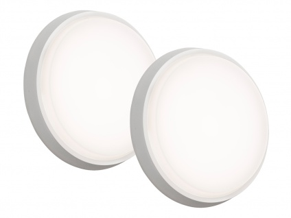 2er-Set LED Wandleuchten / Deckenleuchten CESENA weiß, 10W, 900 Lumen - Vorschau 2