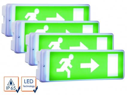 4er-Set LED Notbeleuchtung Fluchtwegleuchte Notlicht Notleuchte Notausgang NV52