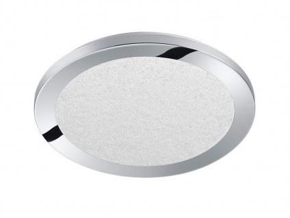 Runde LED Deckenleuchte in chromfarben mit Switch Dimmer IP44 Beleuchtung Bad