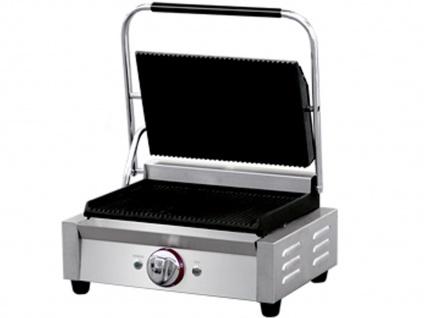 Profi Edelstahl Kontaktgrill Gastro Elektro Multigrill Steakgrill Paninimaker - Vorschau 2