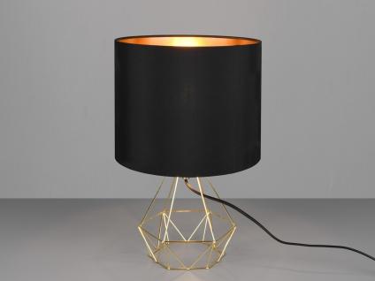 Tischlampe Industrial Designer Gitterlampen mit Stoffschirm Nachtischlampen Büro