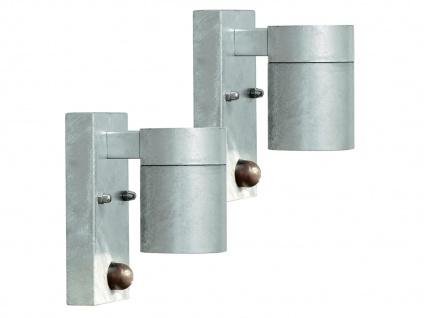 2er-SetWandleuchte MODENA, Bewegungsmelder, galv. Stahl, GU10, IP44 - Vorschau 1