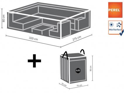 Schutzhüllen Set: Abdeckung 320x275cm für Loungemöbel + Hülle für 6-8 Auflagen