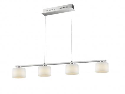 Höhenverstellbare LED Balkenpendellampe mit extra langem Kabel & 4 Glasschirmen