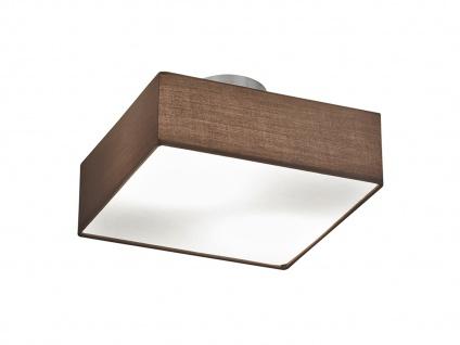Deckenleuchte Deckenlampe EMBASSY Stoffschirm braun 30 x 30cm 2x E14