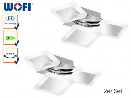 2er Set LED Deckenleuchte IMPULS, 42, 5 x 16 cm, drehbar, LED Deckenlampen Lampe