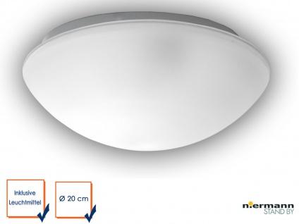 LED Glasleuchte SATINIERT mit Klarrand Ø 20cm Deckenlampe rund Glas Küchenlicht
