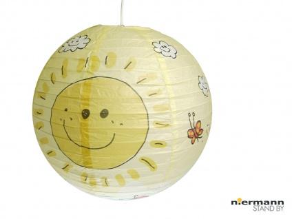 Papier Lampenschirm Gelb für Kinderzimmer mit SONNE Lampion Kugel Ballon Lampe