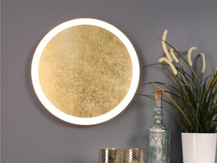 Angesagte LED Innenlampe für Wand und Decke mit Blattgoldoptik Design rund 40cm