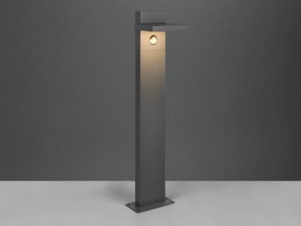 LED Sockelleuchte mit Bewegungsmelder Anthrazit Wegelampe Gartenlampen mit Strom