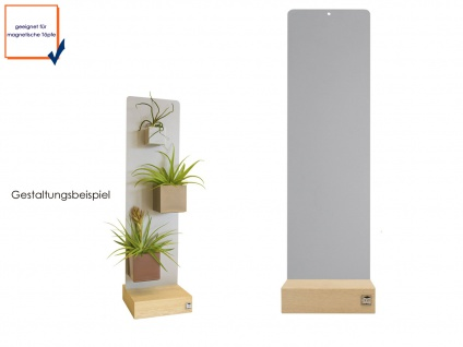 Wandaufbewahrung Dekoration Memoboard Magnettafel Metall 14 x 54cm, KalaMitica