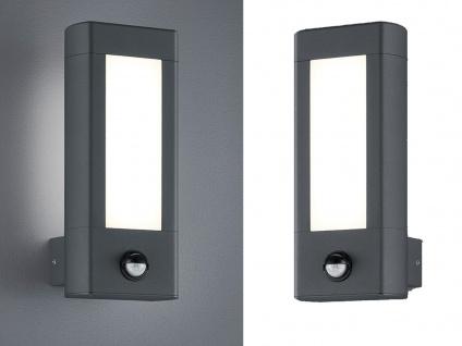 LED Außenwandleuchten mit Bewegungsmelder im 2er SET, Aluminium anthrazit, IP54