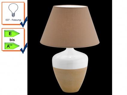 Tischlampe Tischleuchten Tischlampen DERBY Stoffschirm braun Honsel Leuchten - Vorschau 1