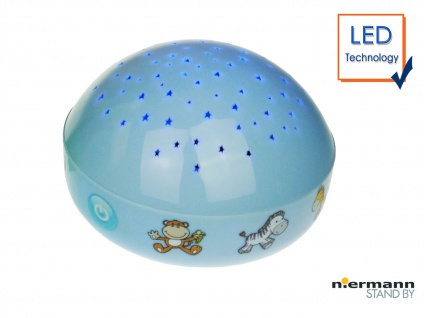 LED Nachtlicht Projektionslampe LED Farbwechsler projiziert bunten Sternenhimmel