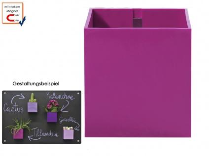 Kunststofftopf mit Magnet Ø 9 cm, Wanddeko Wandaufbewahrung KalaMitica