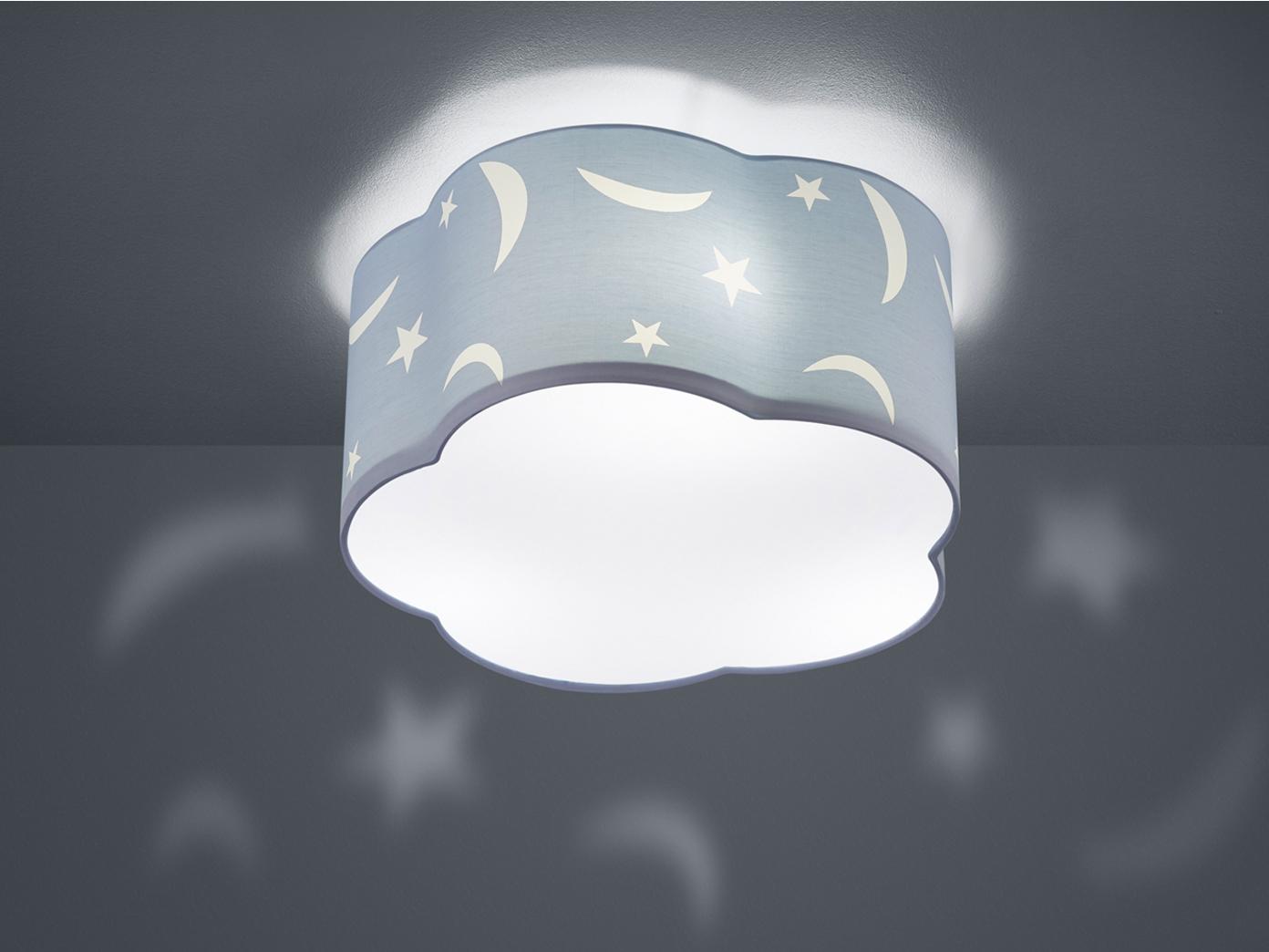 Kinderzimmerlampe Mond Stern Deckenlampe 30 Watt 2550 Lumen LED Deckenleuchte A