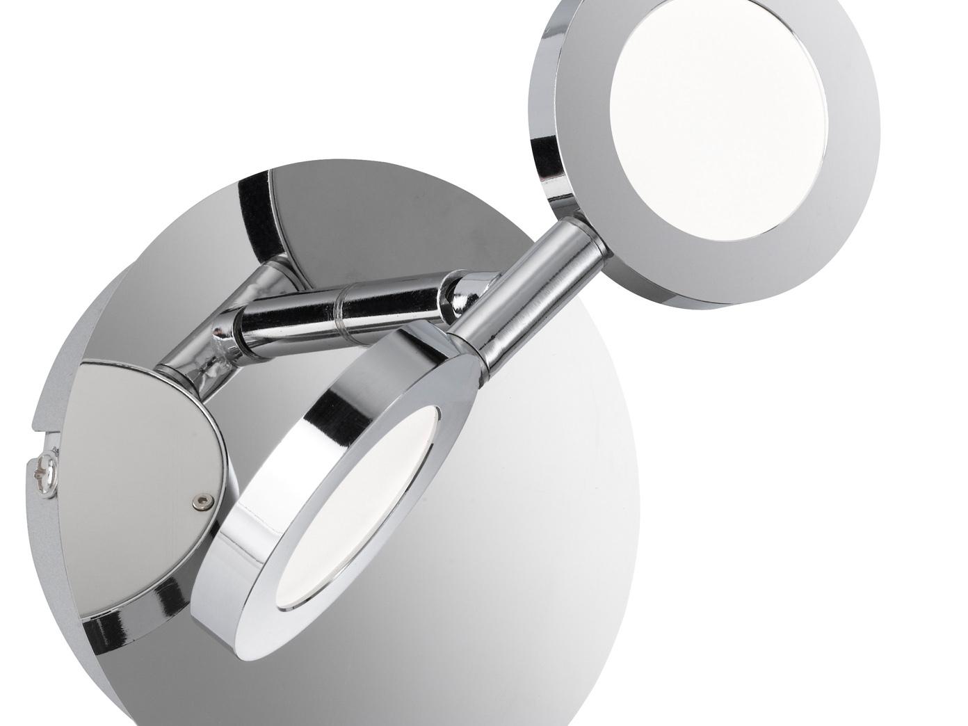 Wandleuchte Wandspot LED Spot CAREY 2er Set LED Wandlampe mit Schalter Chrom