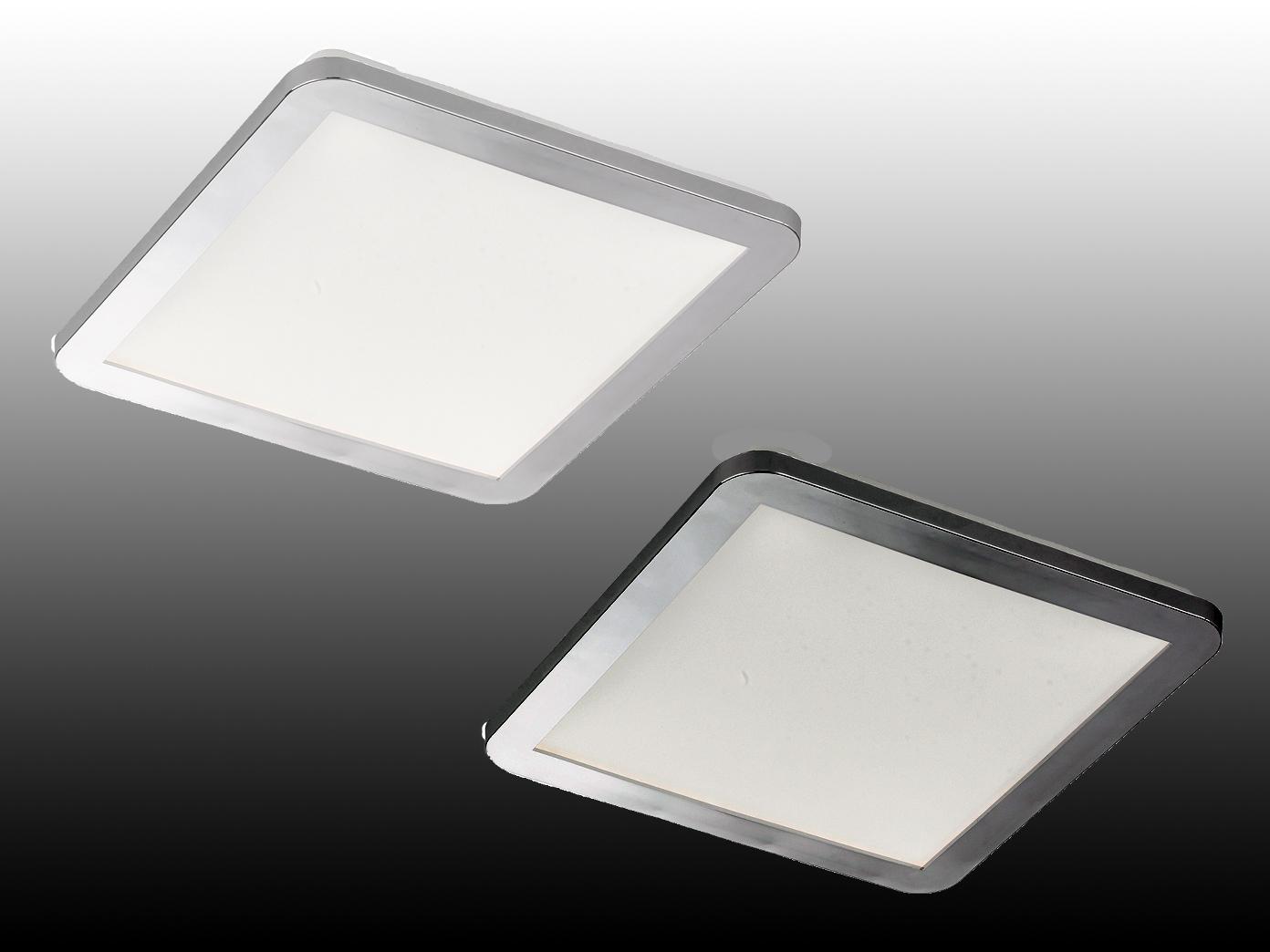 Rechteckige Flache Led Deckenlampen Dimmbare Ip44 Badlampen Im 2er Set Weiß