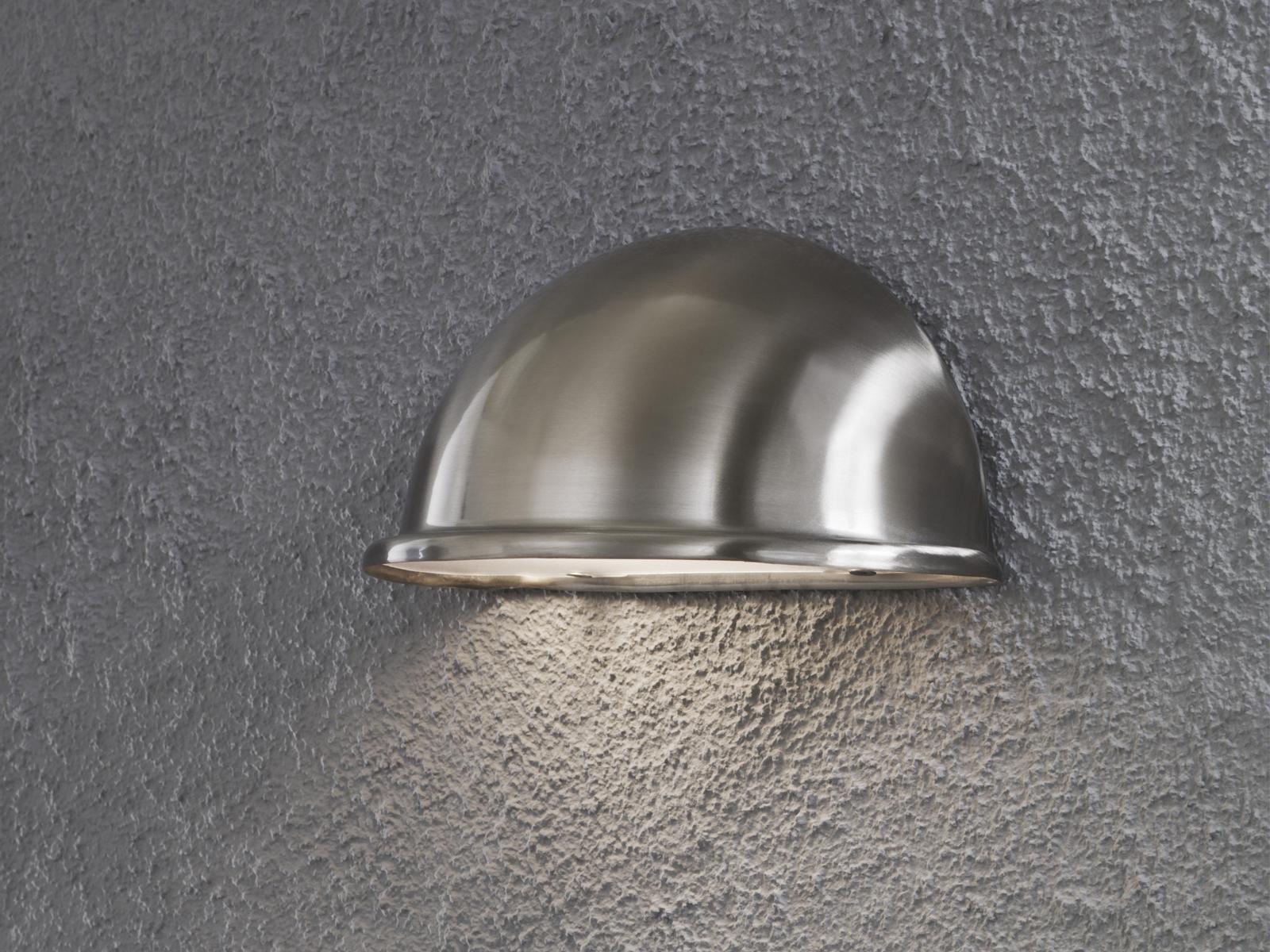 Konstsmide Aussenwandleuchte Torino Downlight E14 Ip23 Silber 7325
