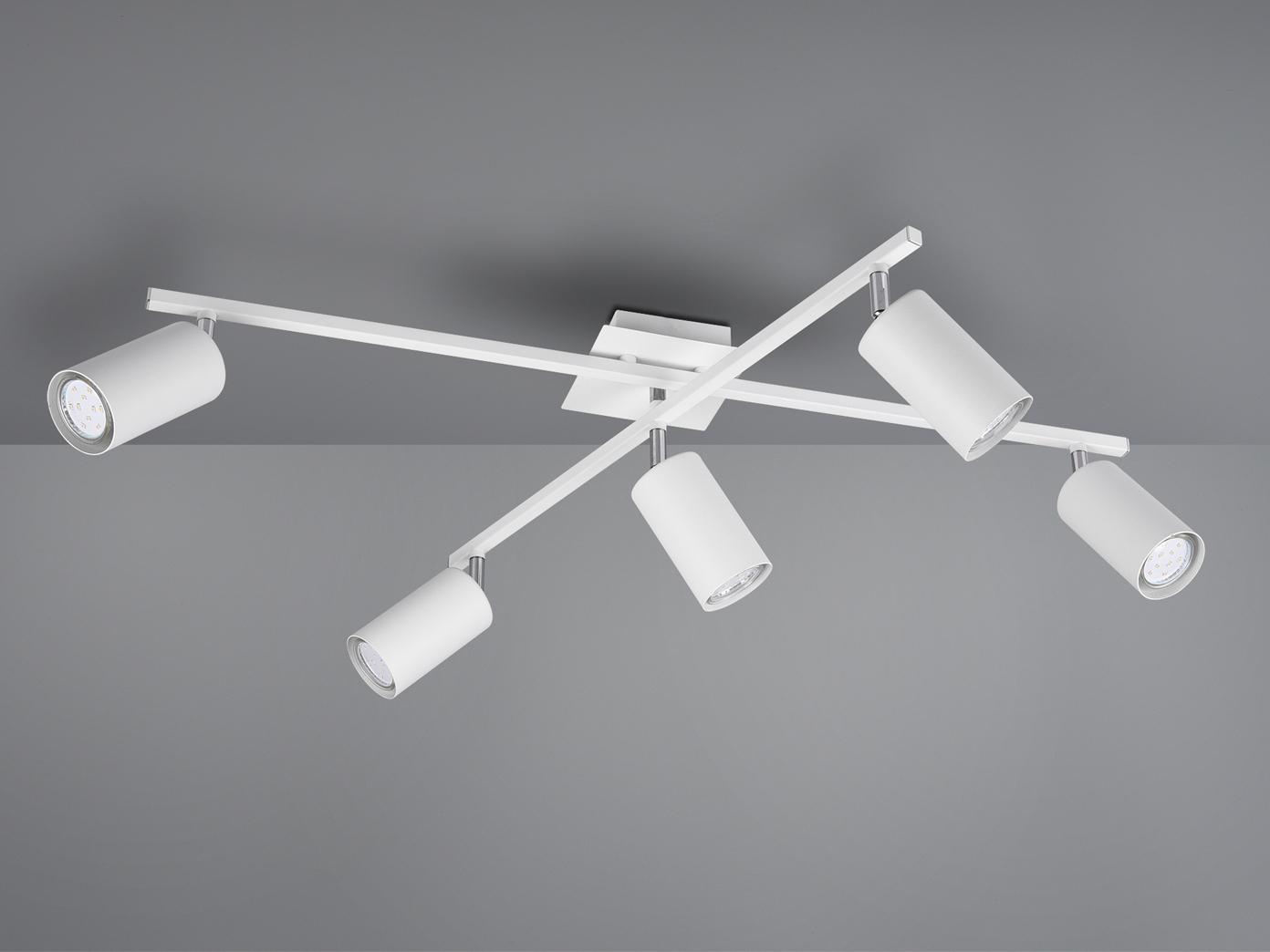 Deckenstrahler mit 20 Spots für Wohnzimmer, Schlafzimmer & Küche aus weißem  Metall