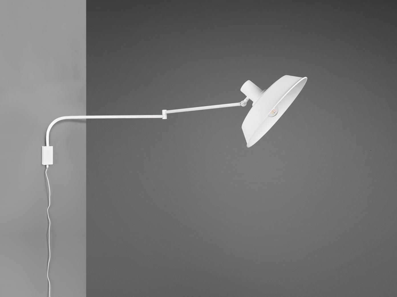 Hängende Wandlampe Schwenkarmleuchte mit Metallschirm Kabel Schalter und  Stecker   yatego.com