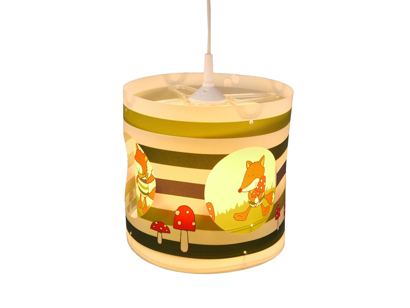 Design LED Kinderzimmerlampe FOX Lampenschirm drehend LED Licht  Kinderzimmer NEU
