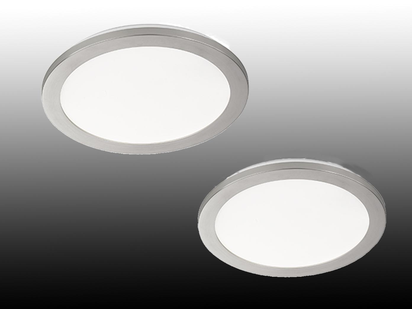 LED Innenleuchten 2er SET fürs Badezimmer, runde IP44 Deckenlampen,  dimmbar, matt