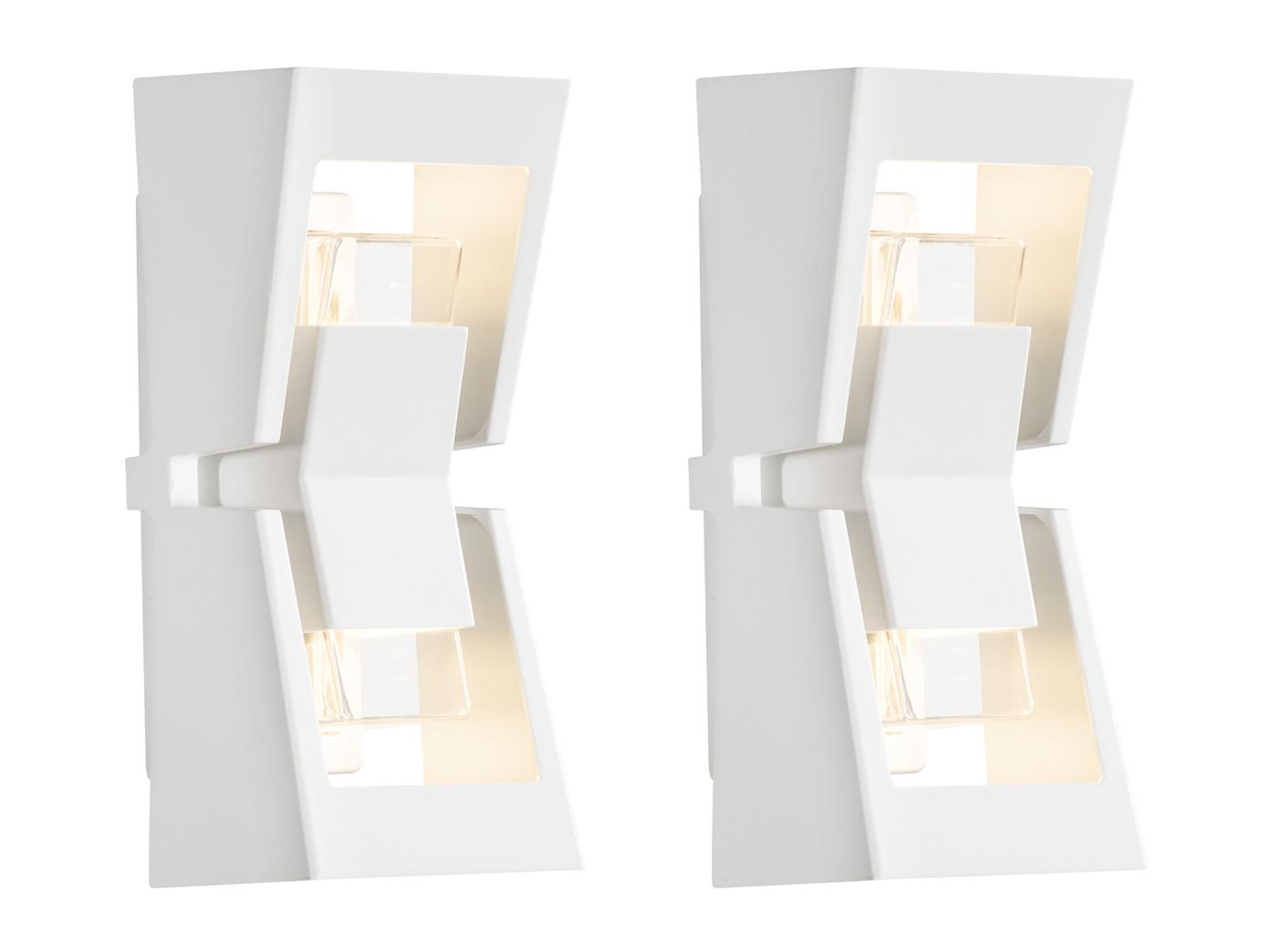Lichtbündelung nach oben /& unten 230 Lumen 4er-Set Wegeleuchten mit 3 Watt LED
