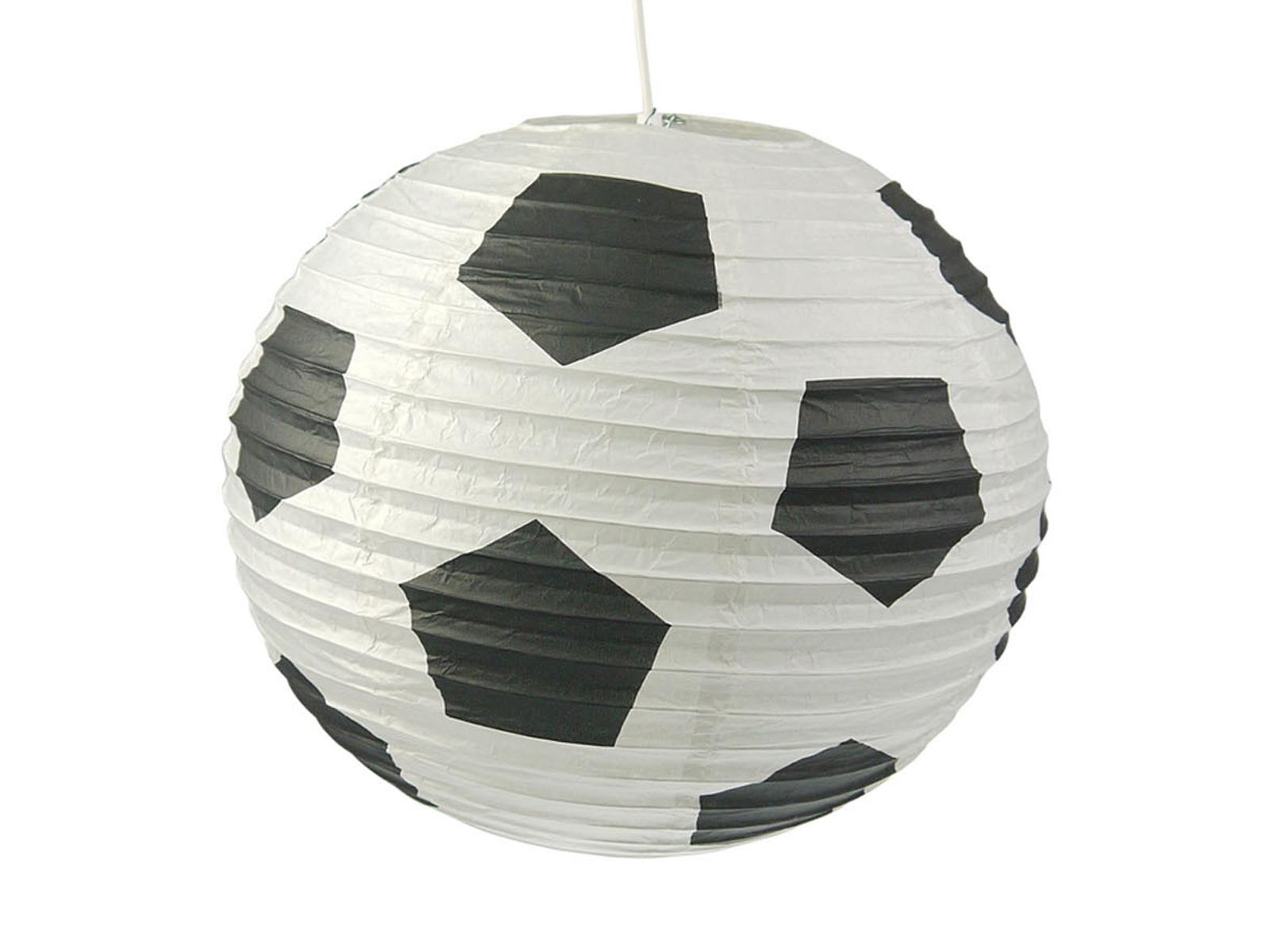 Lampion Kugel Fussball Motiv Ballon Lampe Papier Lampenschirm für ...